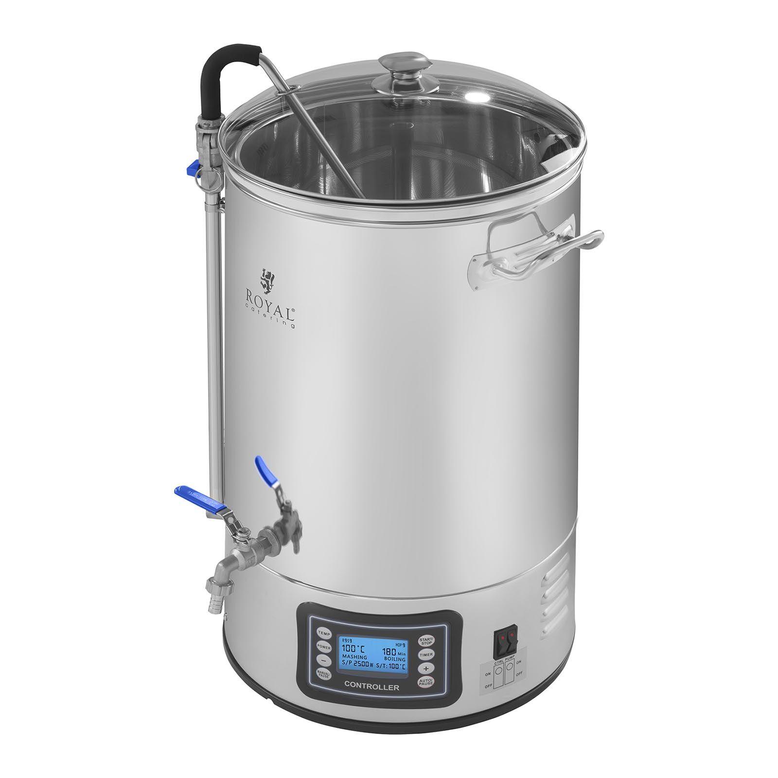 Royal Catering Cuve de brassage - 30 litres - 2 500 watts RCBM-40N