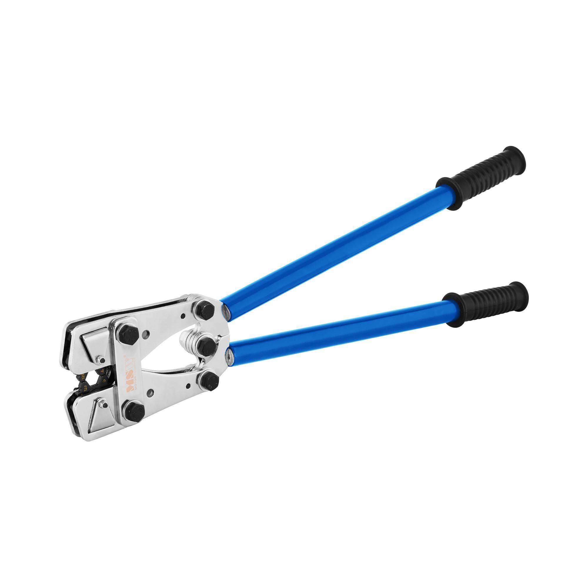 MSW Pince à sertir cosse - Manuelle - 6 à 120 mm² - Sertissage hexagonal MSW-CTM-02