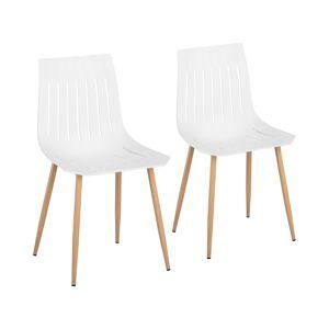 Fromm & Starck Chaise - Lot de 2 - 150 kg max. - Surface d'assise de 50 x 47 cm - Coloris blanc STAR_SEAT_03 - Publicité