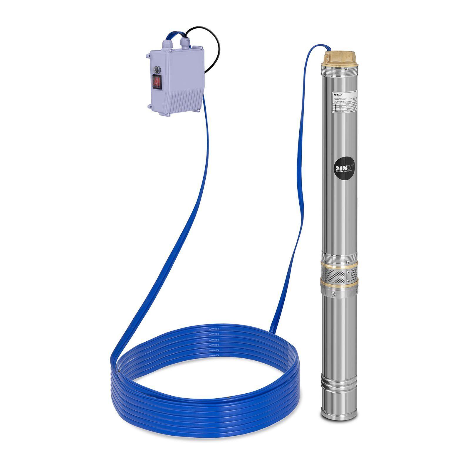 MSW Pompe immergée - 10 800 L/h - 1 100 W - acier inoxydable MSW-SPP48-110