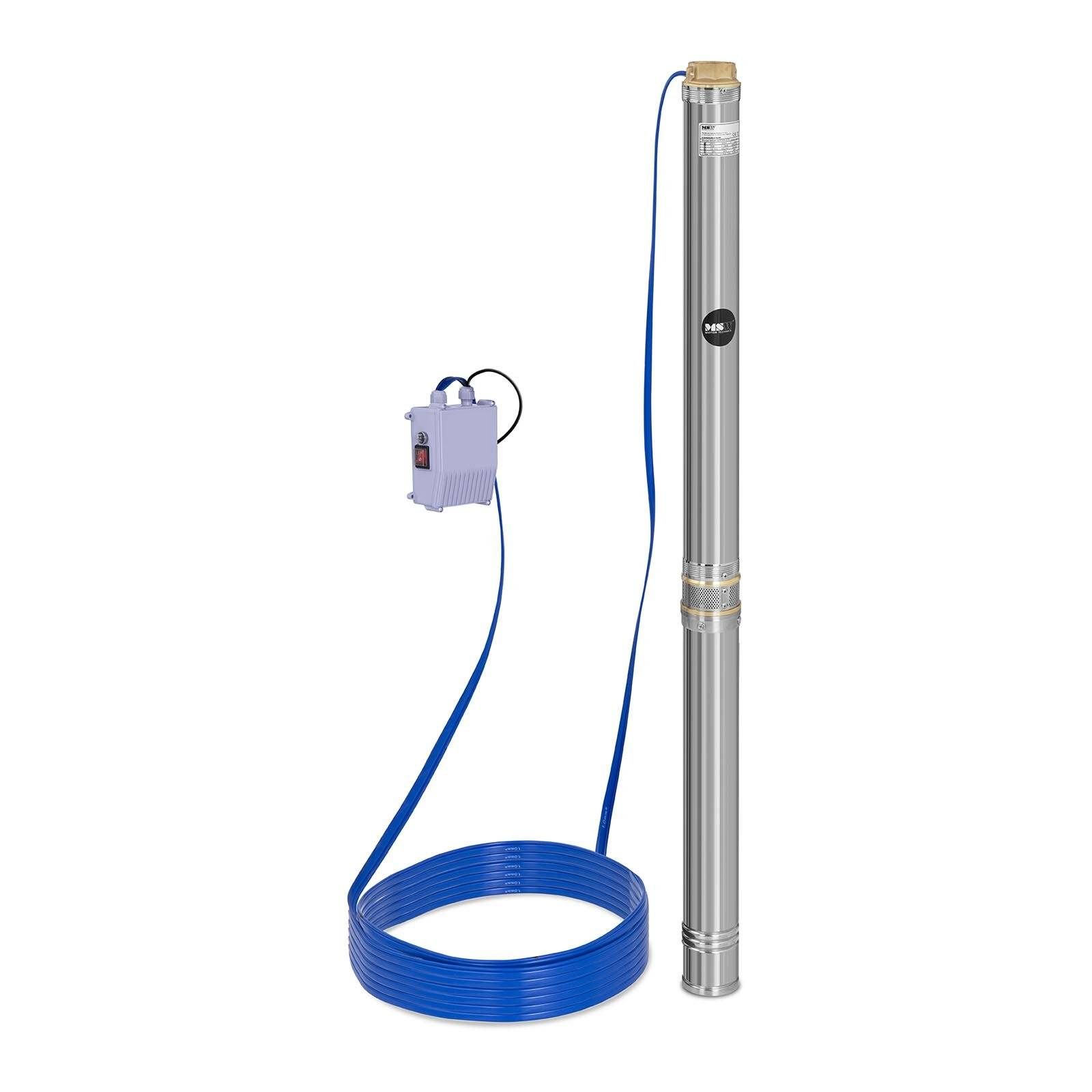 MSW Pompe immergée - 10 800 L/h - 2 200 W - acier inoxydable MSW-SPP48-220