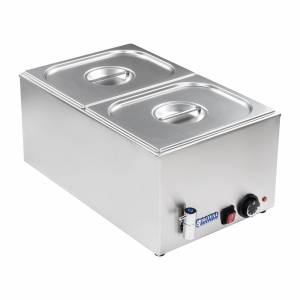 Royal Catering Bain-marie - Bacs GN 1/2 - Avec robinet de vidange RCBM-1/2-150A-GN - Publicité