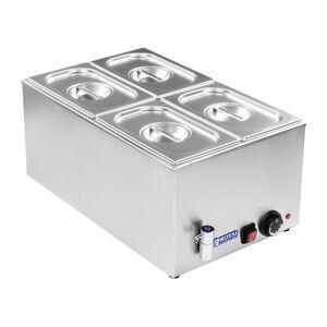 Royal Catering Bain-marie - Bacs GN 1/4 - Avec robinet de vidange RCBM-1/4-150A-GN - Publicité