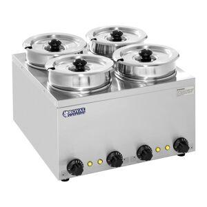 Royal Catering Distributeur de soupe - 4 réservoirs - 2,75 litres - 600 W RCBM-4/4R - Publicité