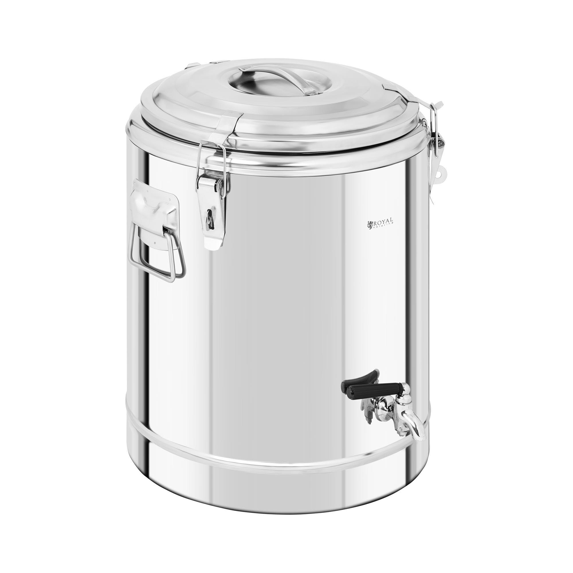 Royal Catering Conteneur isotherme - 30 L - avec robinet de vidange RCTP-30ET