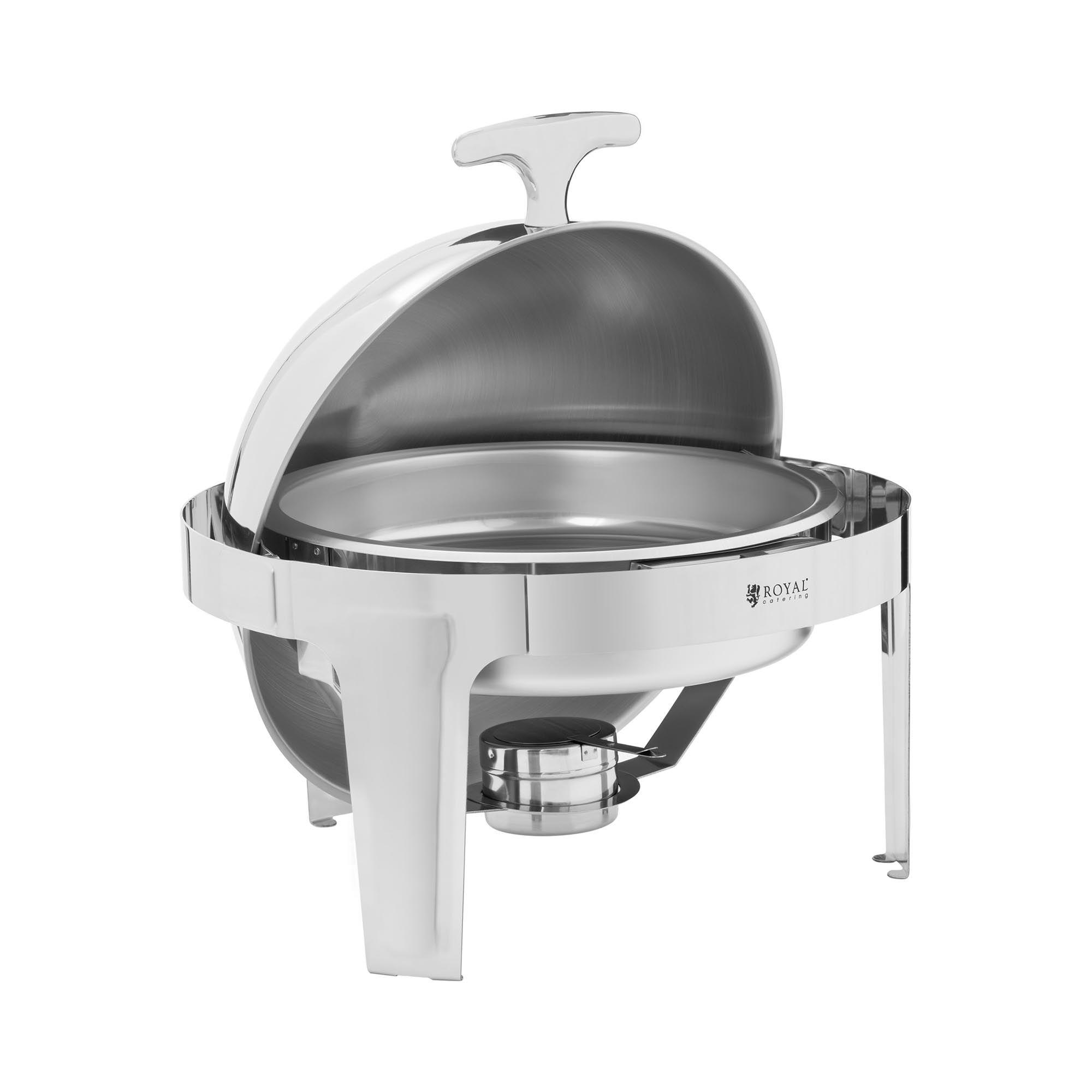 Royal Catering Chafing dish semi-sphérique - 6 l - Brûleur à pâte inclus RCDB-6R