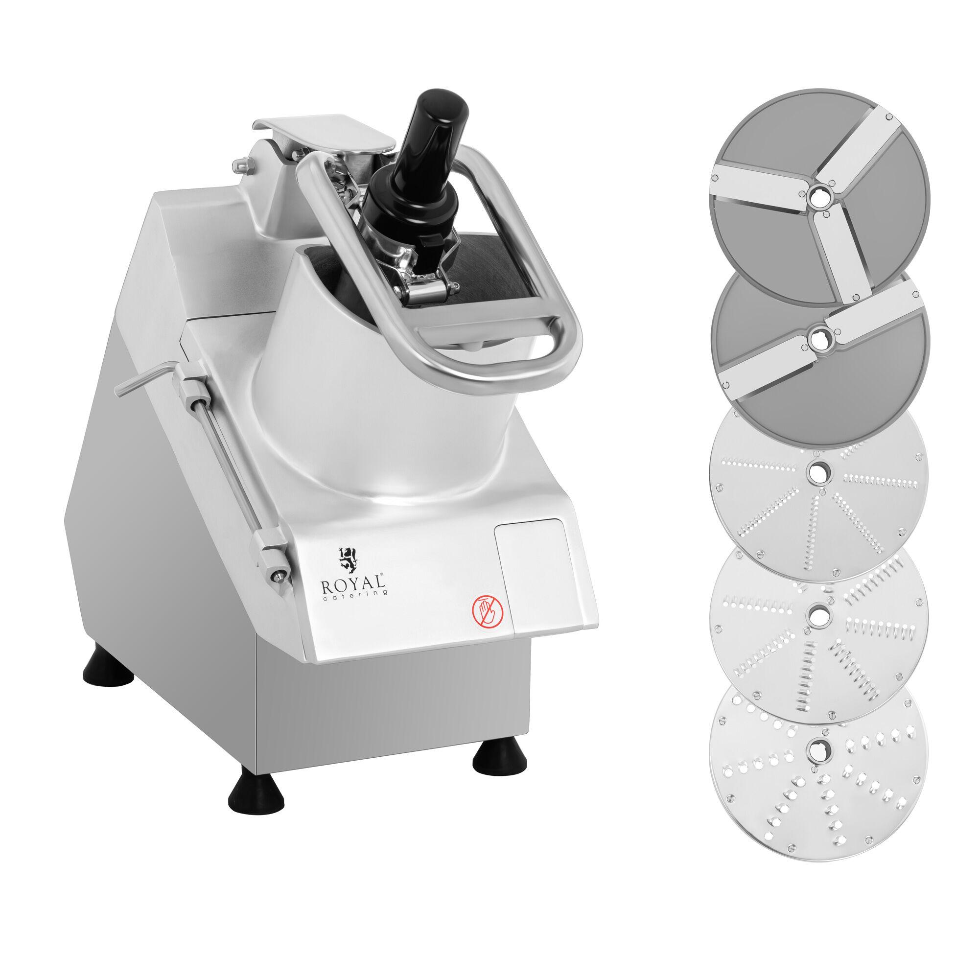 Royal Catering Robot coupe-légumes électrique - 750 W - 5 disques - Ø 205 mm RCGS-750