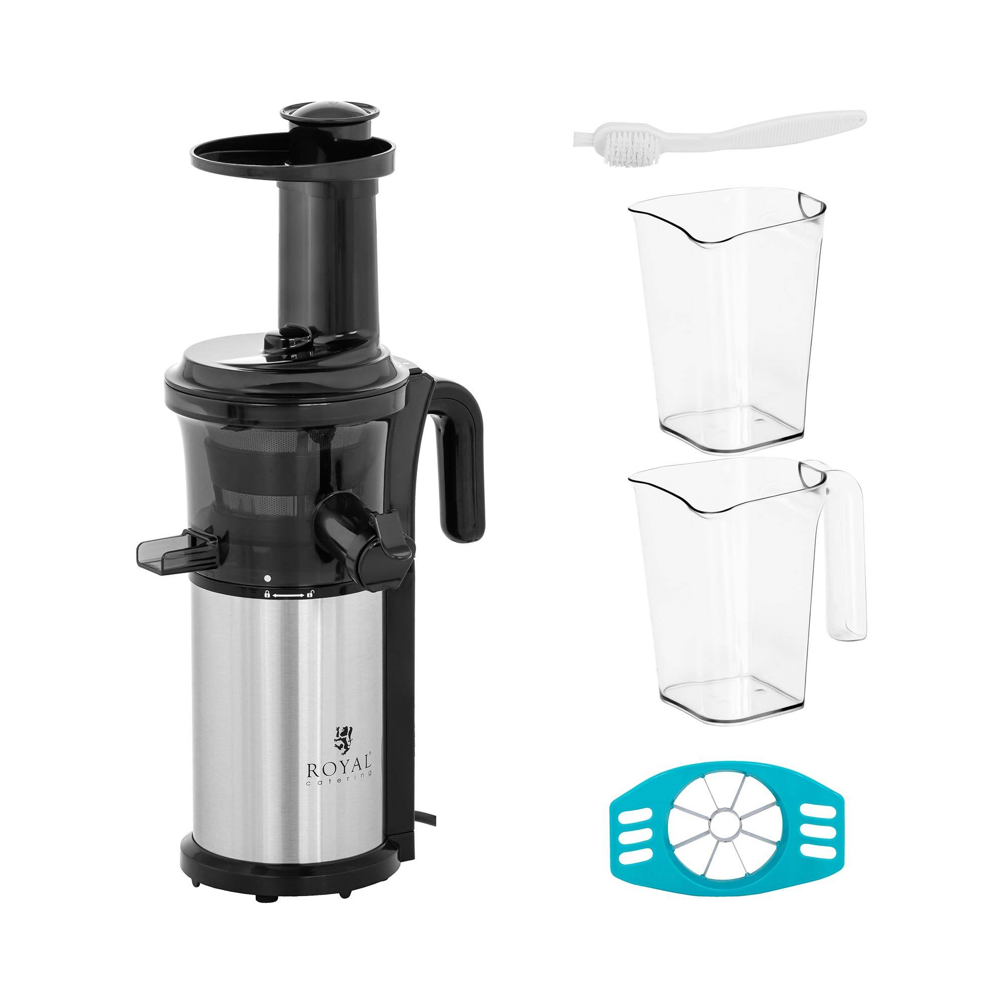 Royal Catering Extracteur jus - Slow Juicer - 200 W - 35 tr/min RCSJ-200W