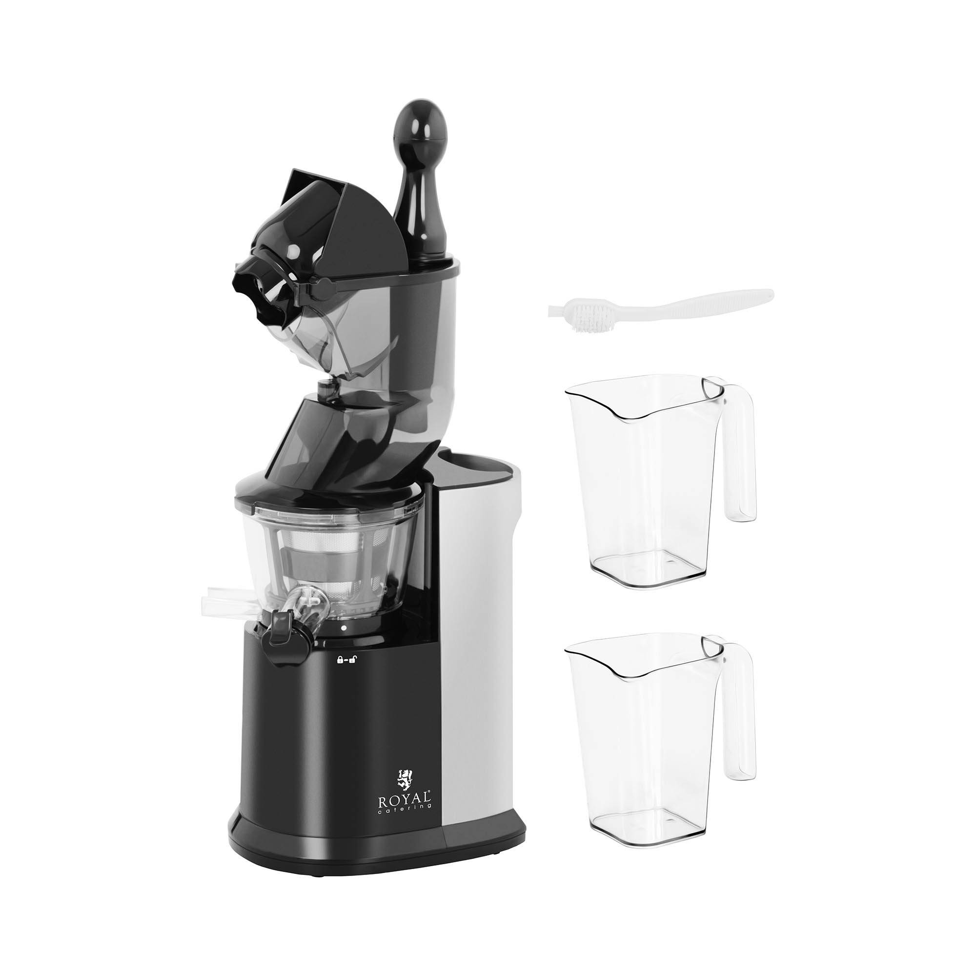 Royal Catering Extracteur jus - Fruits entiers - 250 W - 40 à 65 tr/min RCSS-AC250W
