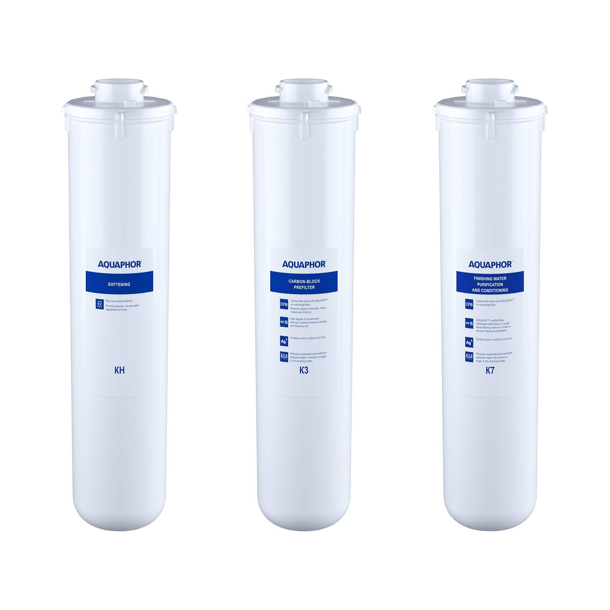 Aquaphor Filtre à charbon actif eau Aquaphor - Kit de filtres de rechange avec filtre calcaire CRYSTAL H FILTERS
