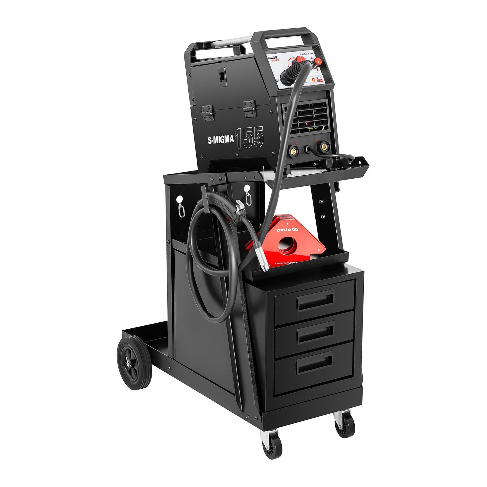 Stamos Welding Group Chariot poste à souder avec 3 compartiments - 75 kg SWG-WC-3D