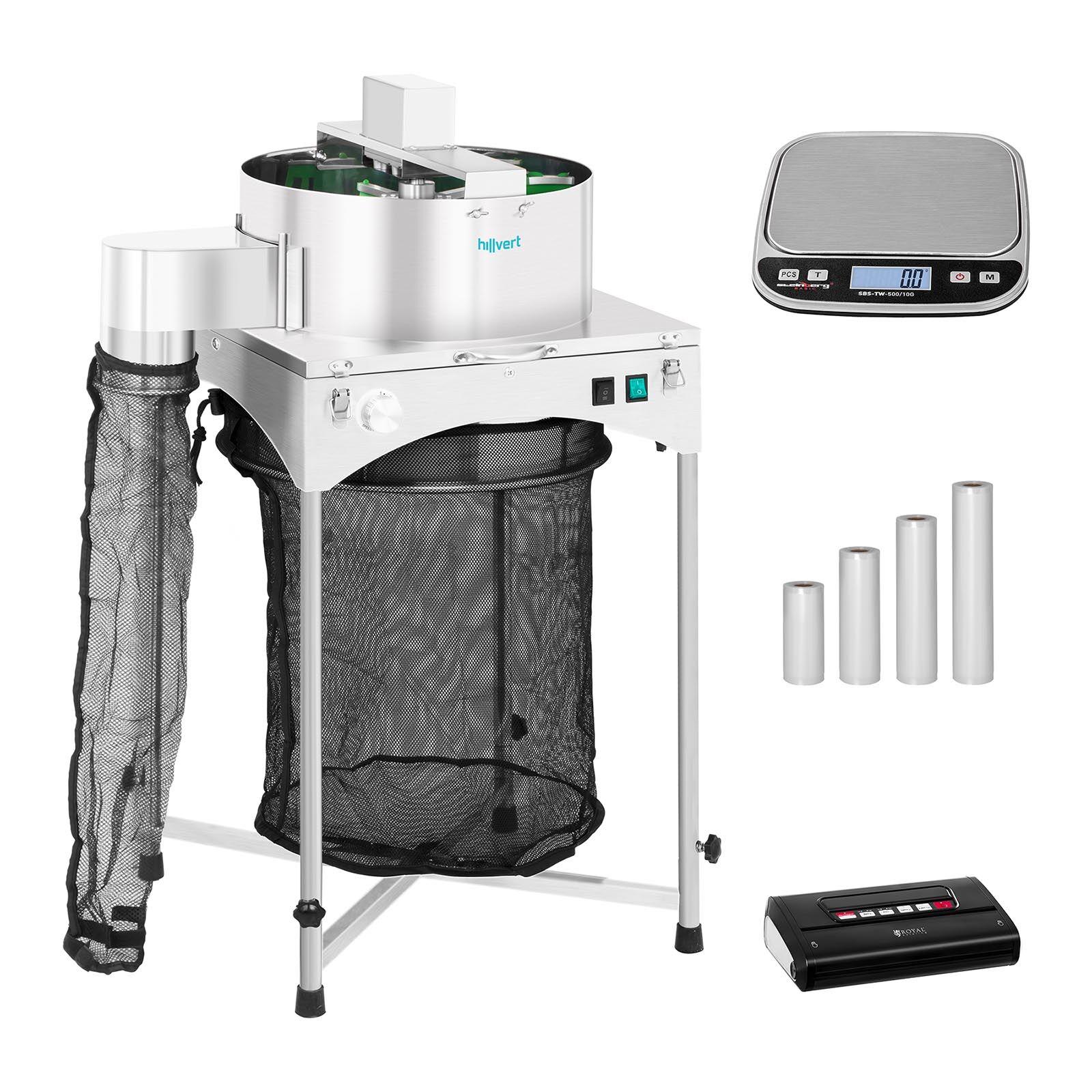 hillvert Machine à manucurer électrique - Set - Ø 39 cm - Machine sous vide alimentaire avec sachets - Balance de table