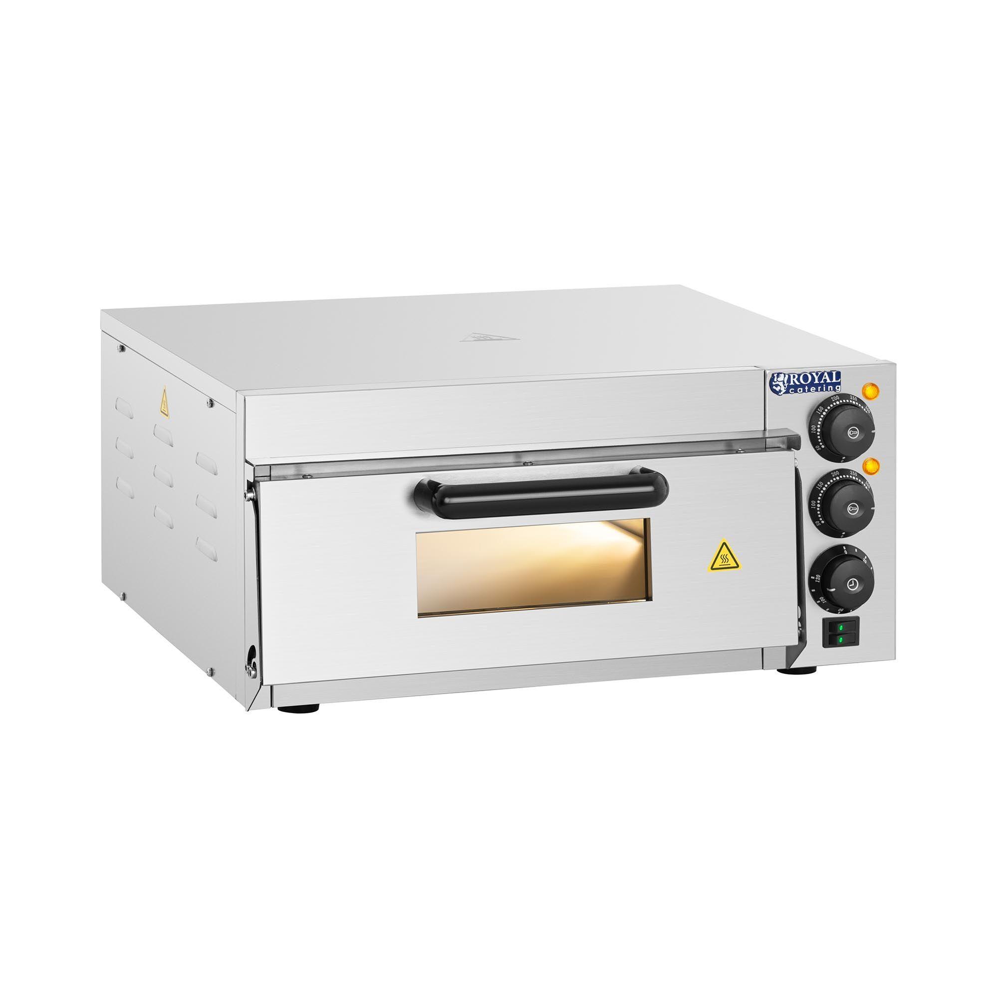 Royal Catering Four à pizza - 1 chambre de cuisson - 2000 W RCPO-2000-1PE
