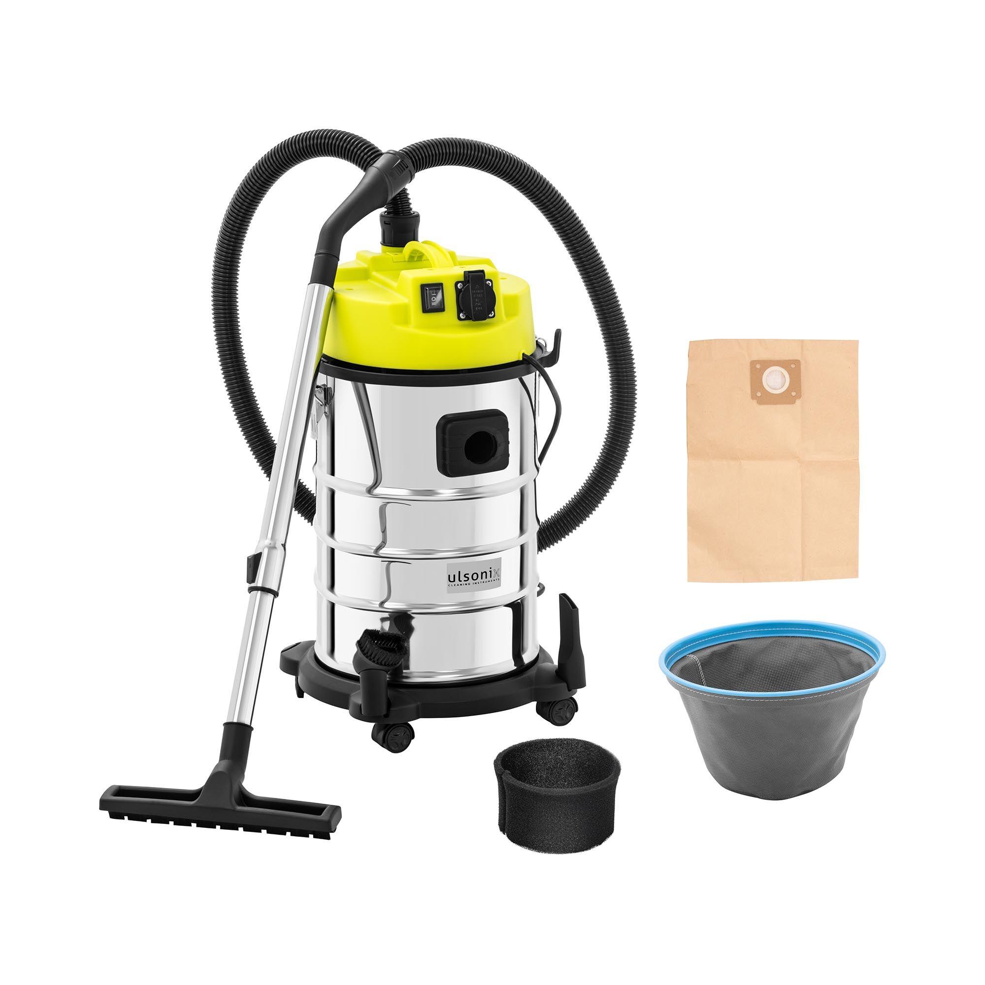 ulsonix Aspirateur eau et poussière - 1 400 W - 30 l - Avec prise électrique FLOORCLEAN 30FS