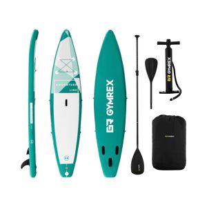 Gymrex Stand up paddle gonflable - 120 kg - Vert - Kit incluant pagaie et accessoires GR-SPB370 - Publicité