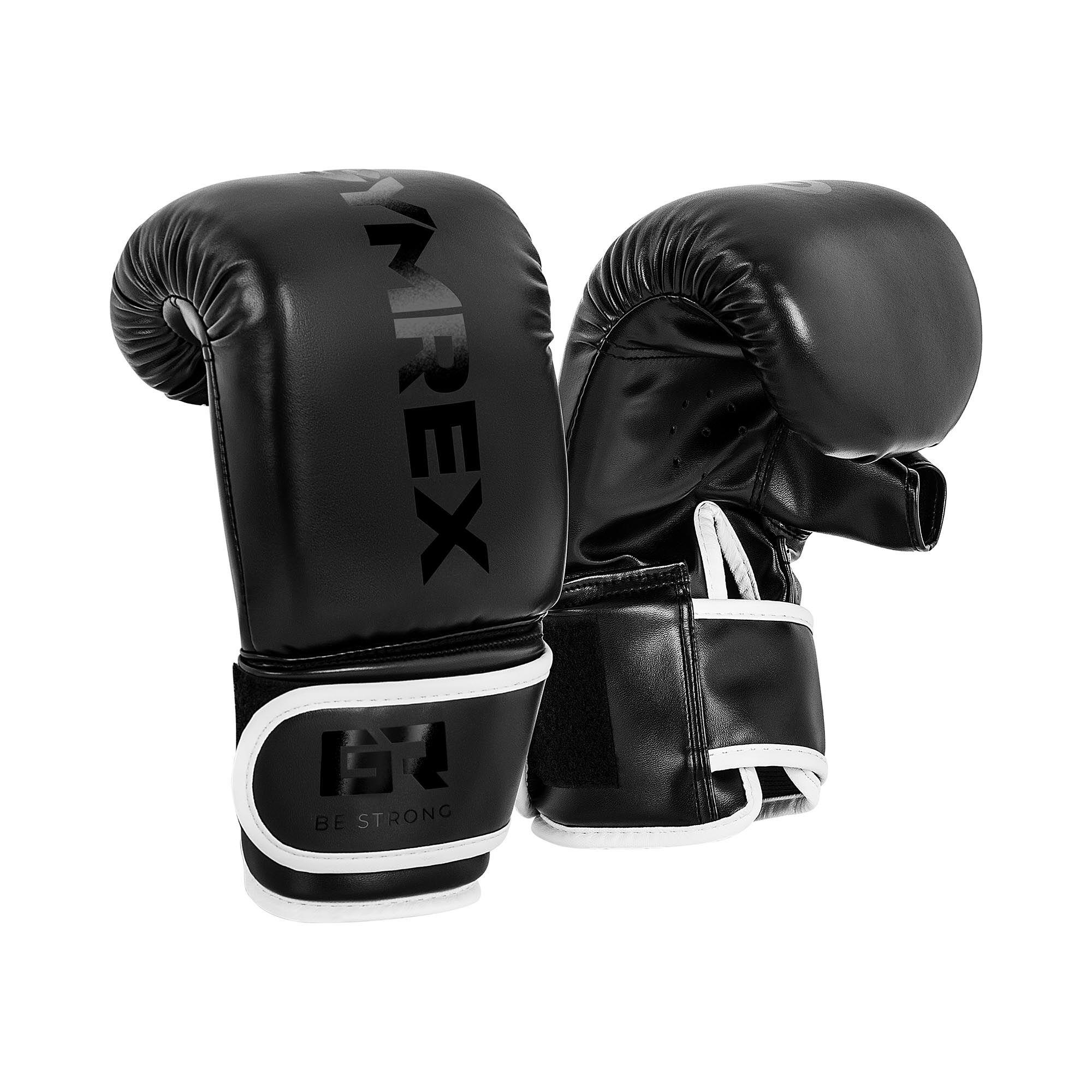Gymrex Gants de boxe pour travail au sac - 12 oz - Noirs GR-BG 12PB
