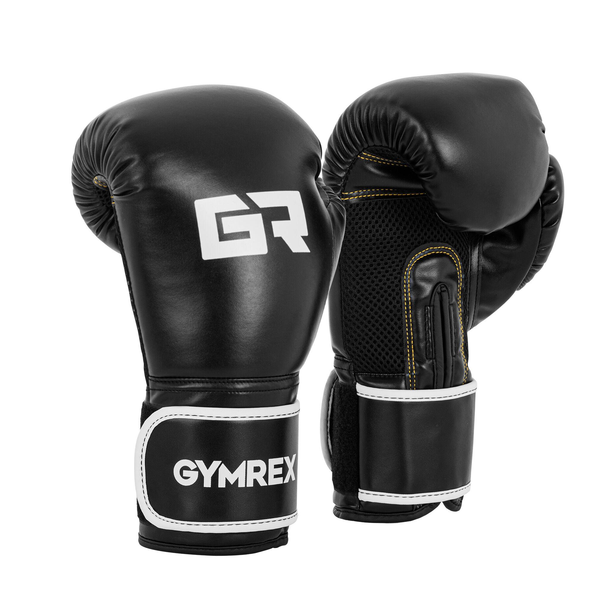 Gymrex Gants de boxe - 14 oz - Paume Mesh - Noirs GR-BG 14B