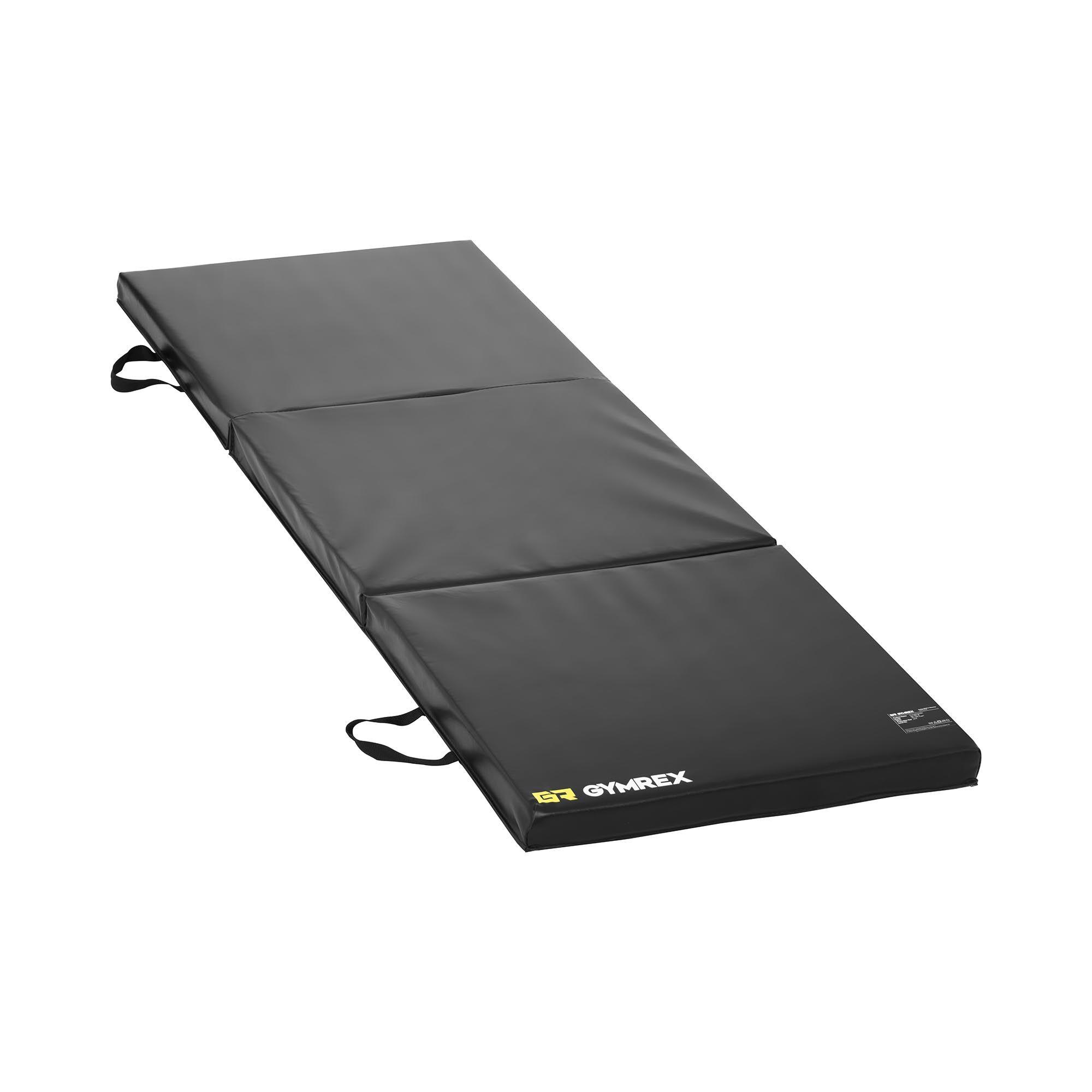 Gymrex Matelas de gym pliable - Noir - 180 x 60 x 5 cm GR-FM 18