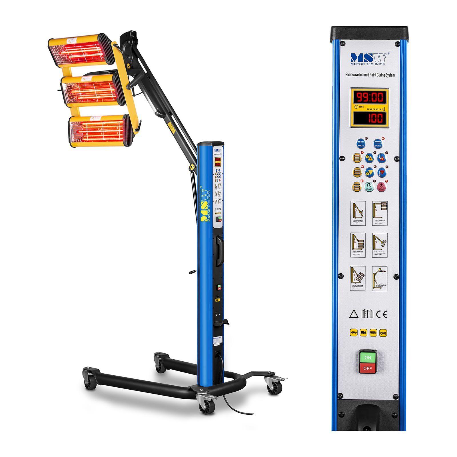 MSW Lampe infrarouge carrosserie - 3300 W - de 3 émetteurs IR-DRYER3000.1