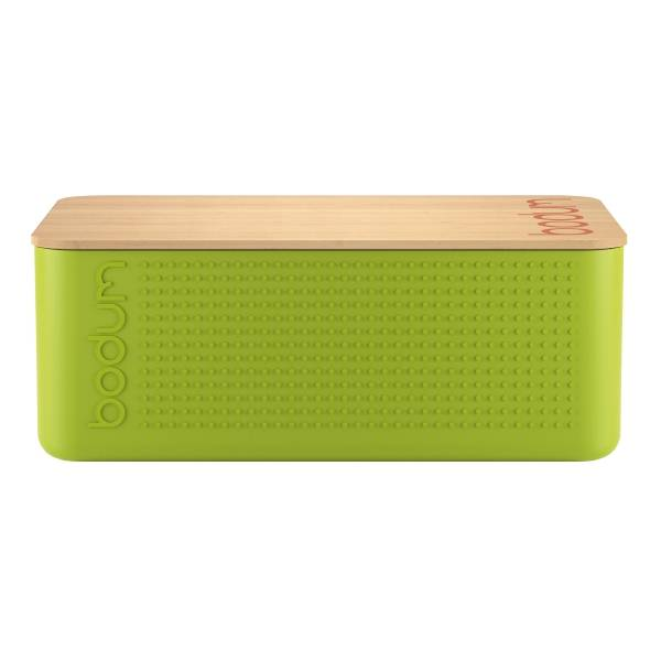 Bodum BISTRO Boîte à pain, couvercle bambou, grand modèle Vert citron