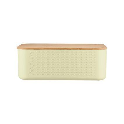 Bodum BISTRO Boite à pain petit modèle, couvercle bambou, 19 cm x 29 cm x H 11 cm Pistachio