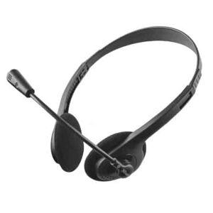 Casque avec microphone flexible - Jack 3,5 mm - Trust - Noir - Publicité