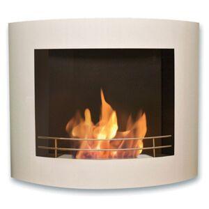 Purline ® Cefiro, cheminée murale bio-éthanol Purline®, laquée blanc