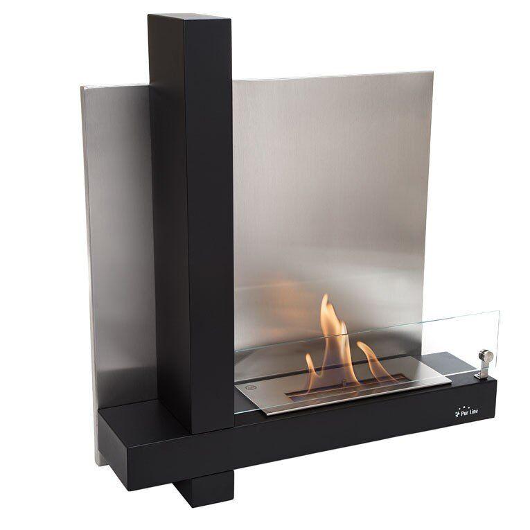 Purline ® MUSA de Purline est une cheminée murale bioéthanol à l'élégant mélange de verre et inox.