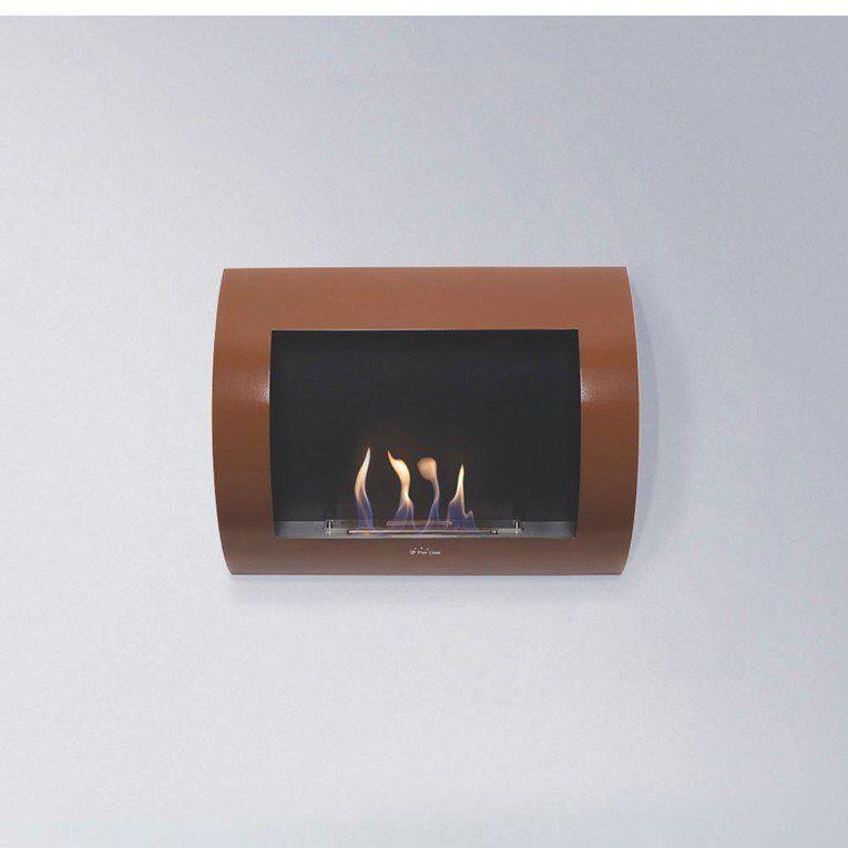 Purline ® Inox Clasic bronze Edition, cheminée mural bioéthanol couleur bronze foncé.