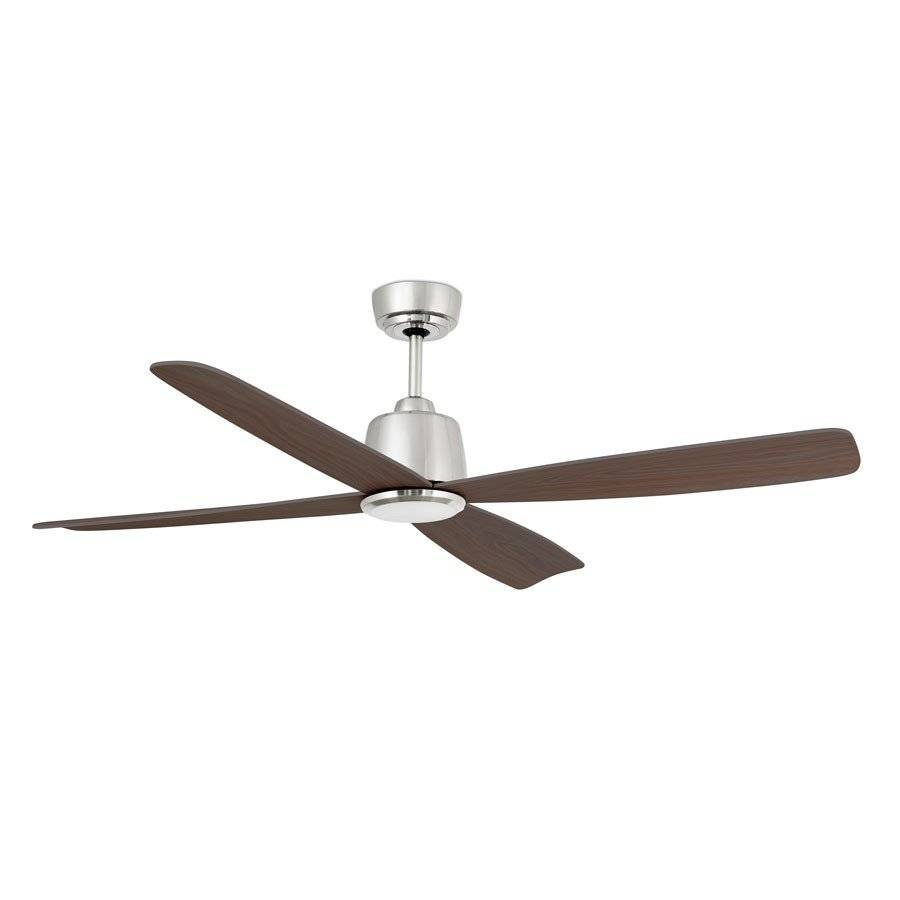 Faro Ventilateur de plafond DC design, silencieux, 125 cm nickel mat pales vengé Faro Molokai 33475