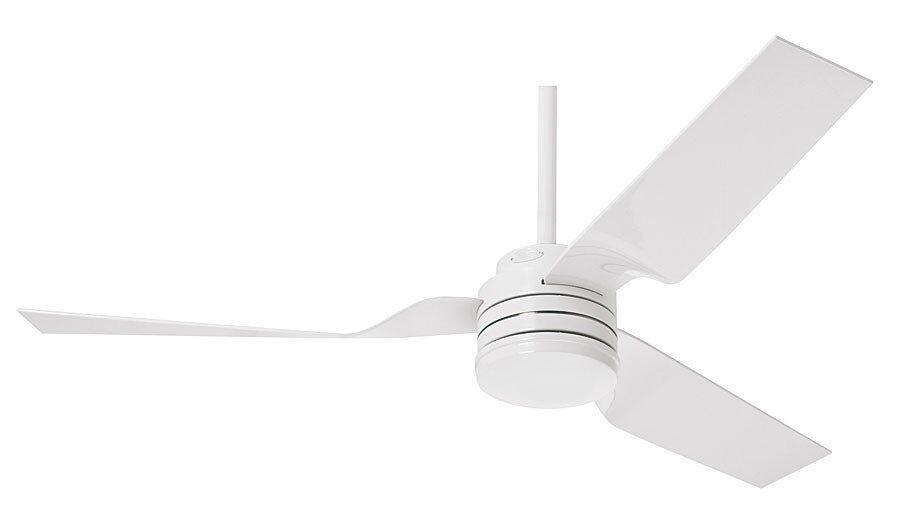 Hunter Ventilateur de plafond design pour exterieur, silencieux, moderne 132 cm blanc brillant Hunter Cabo frio.