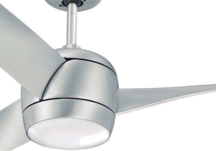 LBA Home Ventilateur de plafond DC  design 142 cm acier brossé point lumineux led télécommande réversible, Koala LBA HOME