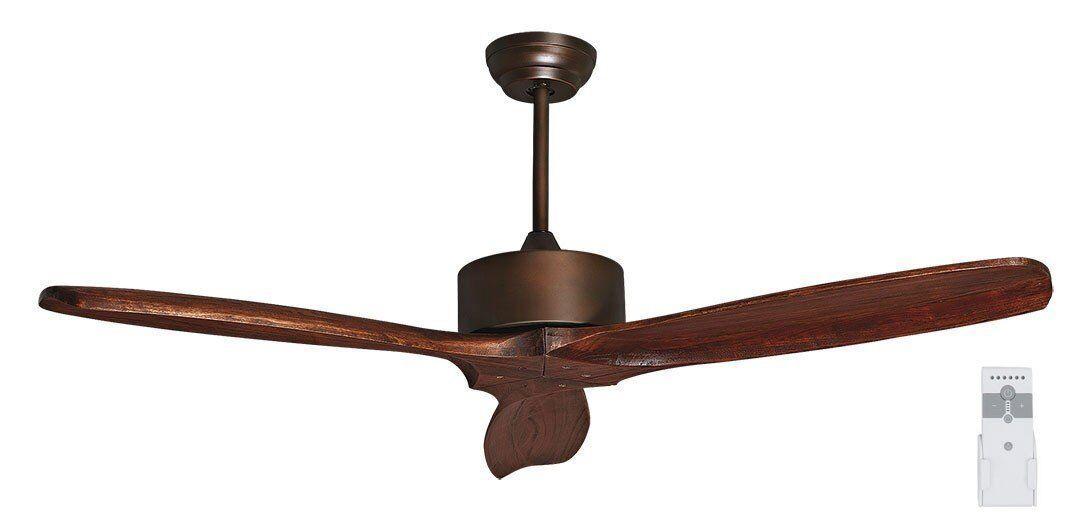 KlassFan Purline by Klassfan, Hegoa DC un  Ventilateur de plafond déstratificateur pales bois massif  132 cm, moteur cuivre vieilli