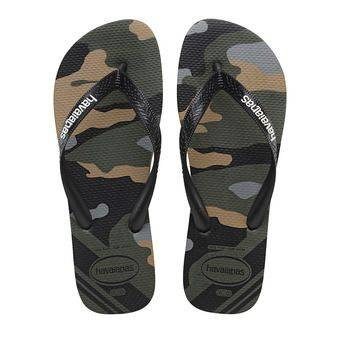 Havaianas TOP CAMU - Tongs Homme green olive