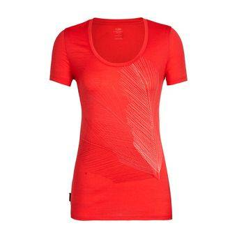 Icebreaker SCOOP PLUME - Tee-shirt Femme cove