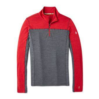 Smartwool MERINO SPORT 250 ZIP - Sous-couche Homme chili pepper heather