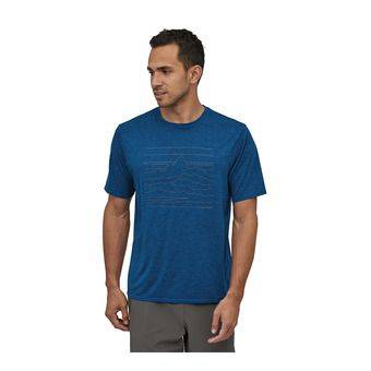 Patagonia CAPILENE COOL DAILY GRAPHIC - Maillot Homme up high endurance/superior blue x-dye