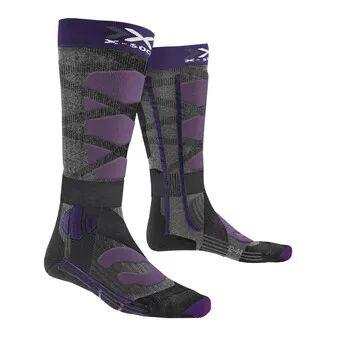 X-Socks SKI CONTROL 4.0 - Chaussettes Femme noir/violet