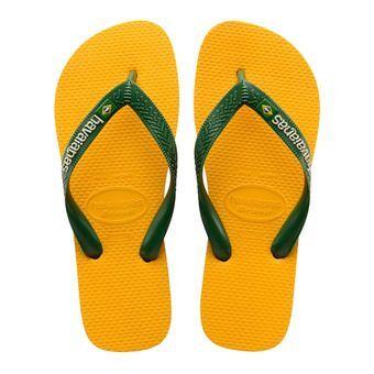 Havaianas BRASIL LOGO - Tongs Homme banana yellow