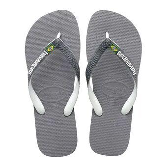 Havaianas BRASIL MIX - Tongs Homme steel grey/white/white