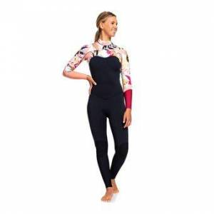 Roxy POP SURF - Combinaison 3/2 mm Femme black/terra cotta