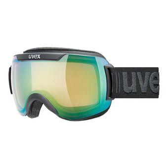 Uvex DOWNHILL 2000 V - Masque ski photochromique black mat/vario green mirror