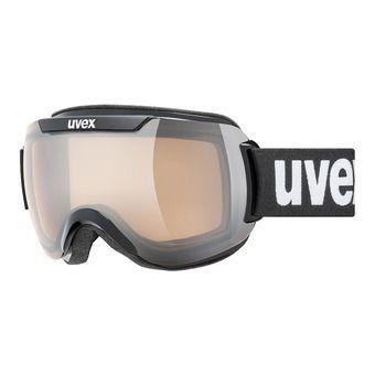 Uvex DOWNHILL 2000 V - Masque ski photochromique black/vario silver mirror