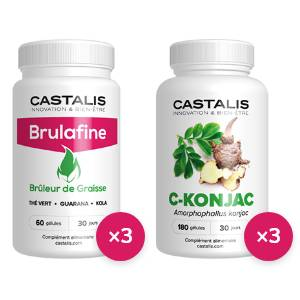 Castalis Brulafine + C-Konjac - Cure 3 mois