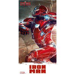 Marvel Captain America Civil War poster en verre Iron Man 60 x 30 cm - Marvel