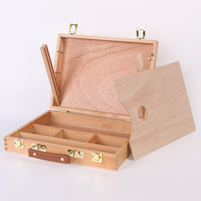 AliExpress Boîte en bois multifonction Portable pour peinture à l'huile, avec Palette, accessoires pour