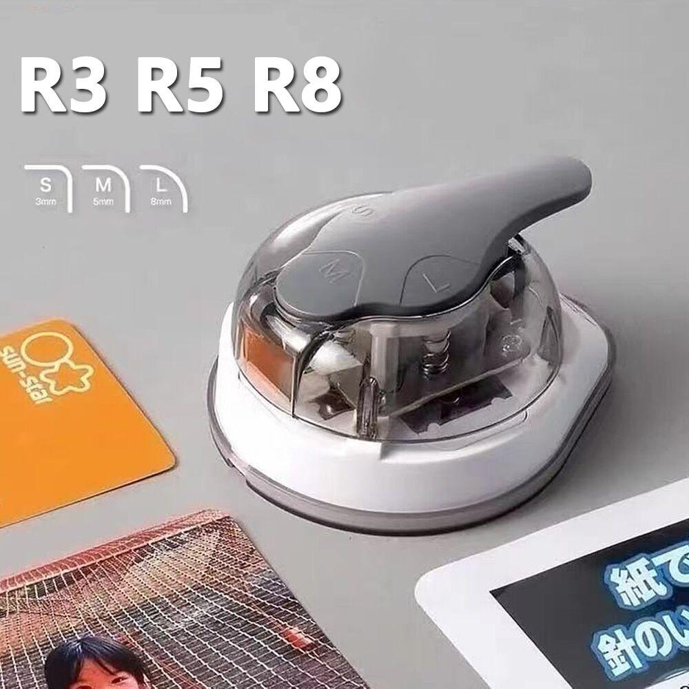 AliExpress Mini tondeuse d'angle 3 en 1, poinçon de coin R3/R5/R8mm, coupeur d'angle rond pour pochettes de