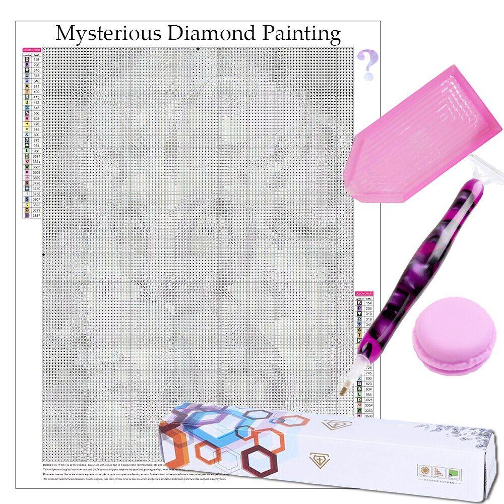 AliExpress Peinture diamant mystérieuse 5D avec stylo perforateur en résine, cire d'argile Macaron et grand