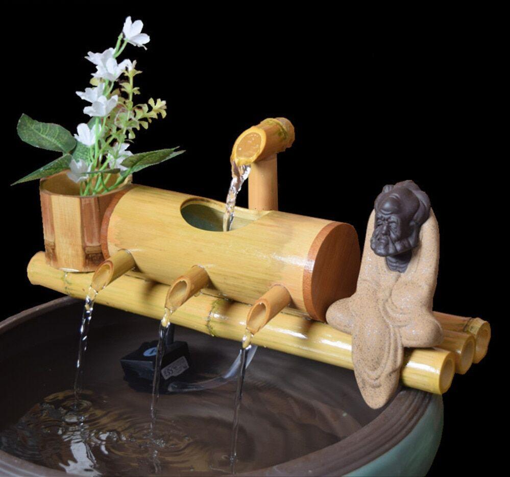 AliExpress Décoration Feng Shui en bambou pour Aquarium, recyclage de l'eau, fontaine d'eau en Tube, filtre de