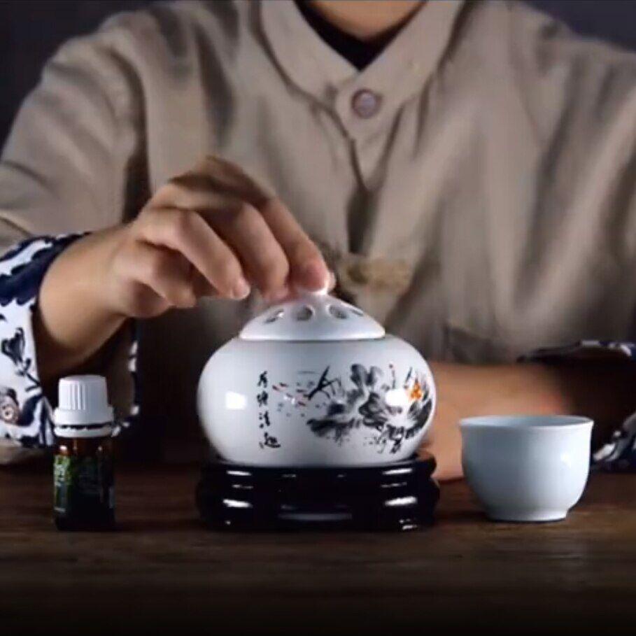 AliExpress Brûleur d'huile essentielle électrique avec Thermostat chronométré, diffuseur d'arôme de poudre de